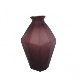 Purple Frosted Glass Vase (S)
