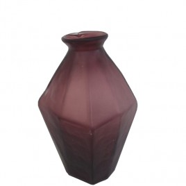 Purple Frosted  Glass Vase (L)