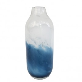 Blue Wave Glass Vase