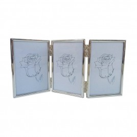 Trio Sided Silver Plated Frame