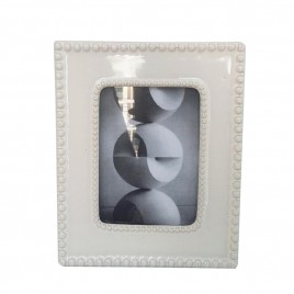 White Ceramic Photo Frame