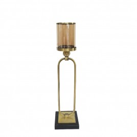 Ballard Gold Candle Holder w/ base