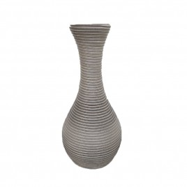 Outdoor rattan Vase (Light Grey)