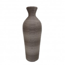 Outdoor rattan Vase (Dark Grey)
