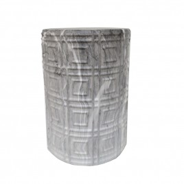 Marble ceramic drum stool