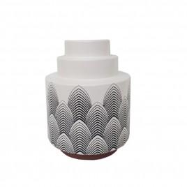 Graphic Black & White Ceramic Vase