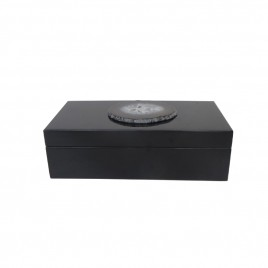 Agate Black Wooden Box (Medium)