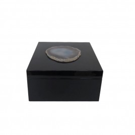 Agate Black Wooden Box (Small)