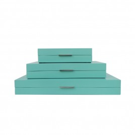 Tiffany Blue Wooden Box (Set)