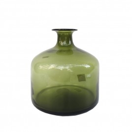 Dark Green Glass Vase
