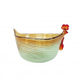 Chicken Glass Bowl