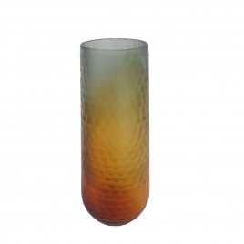 Grey Brown Glass Vase