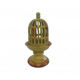 Ceramic Bird Cage (Green)