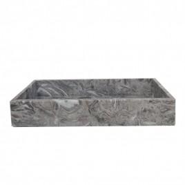Rectangular marble tray (Grey)