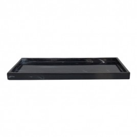 Artificial marble serving tray (Black)