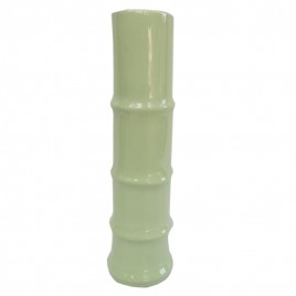 Mint Green Bamboo ceramic vase (Large)