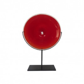 Glass Accent with Stand (Red)