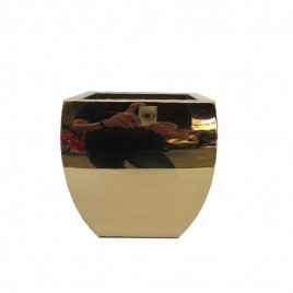 Metal Planter in Gold (Small