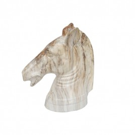 Marble Finish  Brown Horse Head (Large)