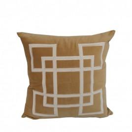 Velvet geometric embroidery (Gold)