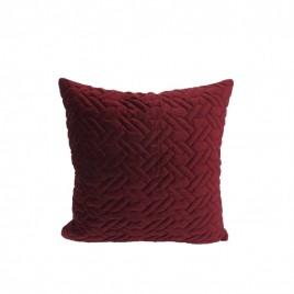 Wash Velvet Square Throw Pillow (Red)