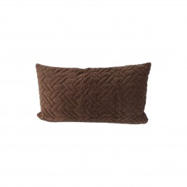 Wash Velvet Rectangular Throw Pillow (Chocolate)