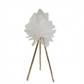 Clear Quartz with Golden Stand (Large)