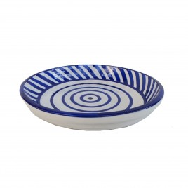 Painted African Blue&White Plate