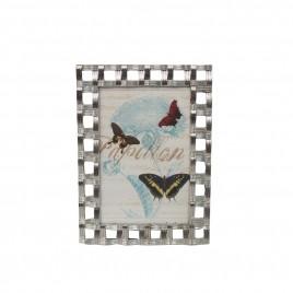 Tiffany Weave Silver Frame