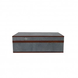 Faux Blue Shagreen Box (S)