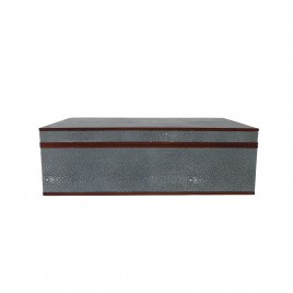 Faux Blue Shagreen Box  (Large)