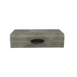 Faux Grey Shagreen Box  (S)