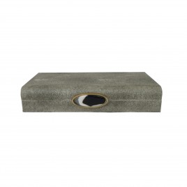 Faux Grey Shagreen Box (L)