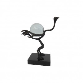 Metal ostrich crytal decorative ball