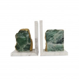 Green Agate Bookend
