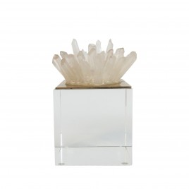 Quartz cluster display w/ Base (S)
