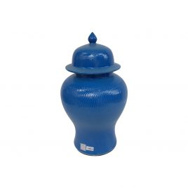 Navy Blue Small Ceramic Canister