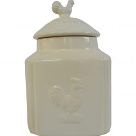 White Ceramic Jar (Large)