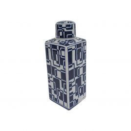 China Blue & White Large Canister