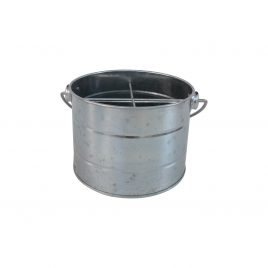 Tin Utility Storage Bucket (Silver)