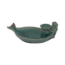 Green Ceramic Mermaid Plate