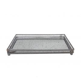 Metal tray w/ Glass(Small)