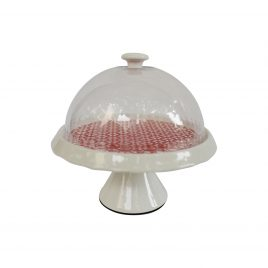Red Pattern Round Cake stand (Small)