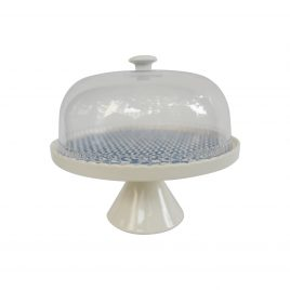 Blue Pattern Round Cake stand (Large)