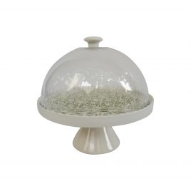 Green Pattern Round Cake stand (Small)