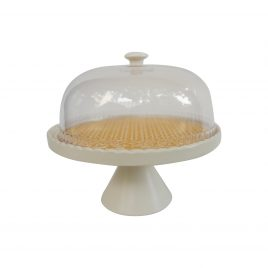 Yellow Pattern Round Cake stand (Large)