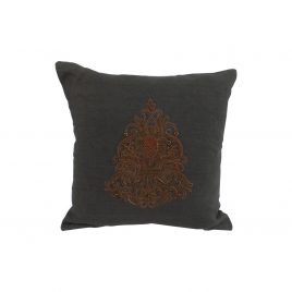 Center Motif on Linen Cushion