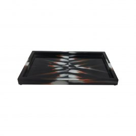 horn tray in black