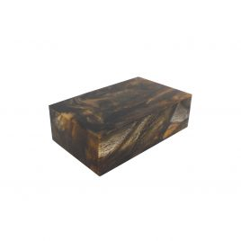 Brown Resin Retangular Box