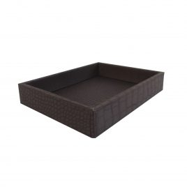 Dark Chocolate Leather Tray